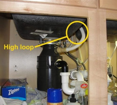 Dishwasher Drain Loop Photo