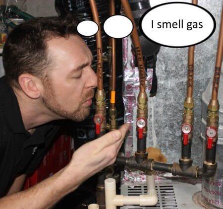 I smell gas