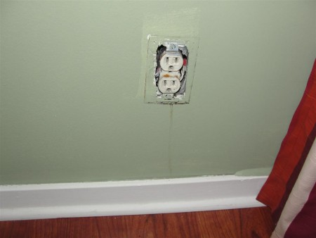 Interior - drip mark below outlet