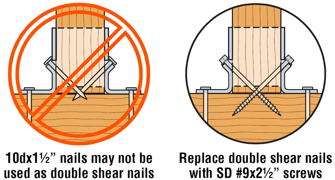 how to look for and fix improper joist hanger nails on your deck