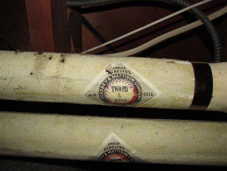 Asbestos boiler pipes