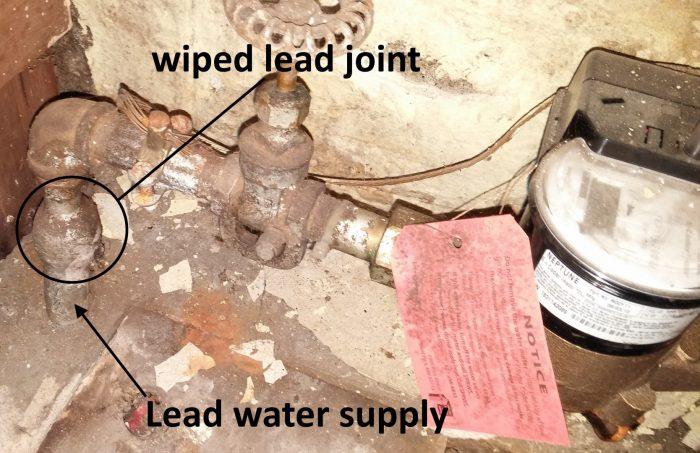 Lead water line