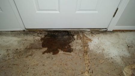 water leaking in at door threshold