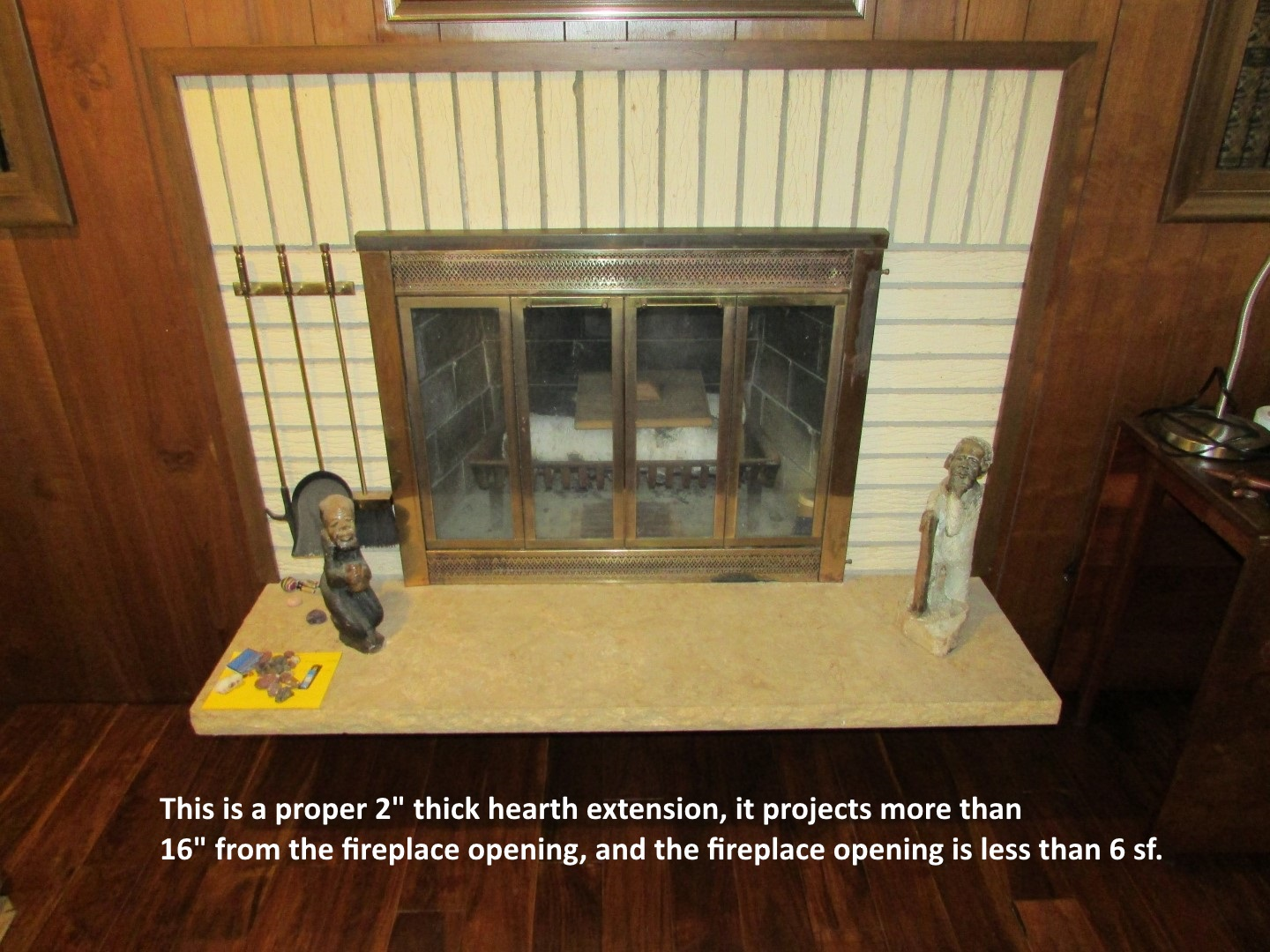 the health inspector fireplace hearth extension rules should not