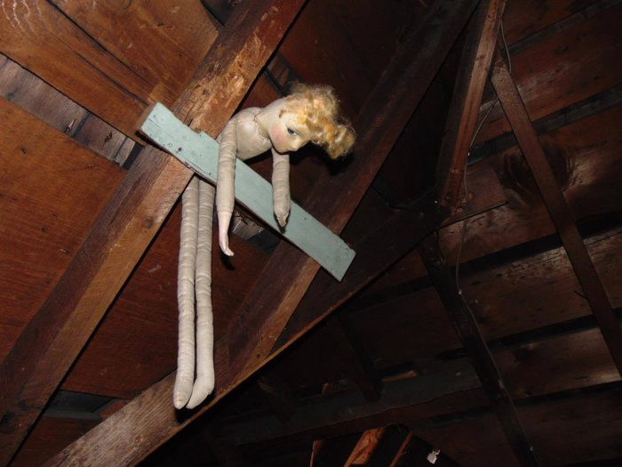 doll in attic