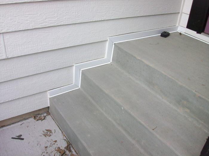 LP Smartside on steps