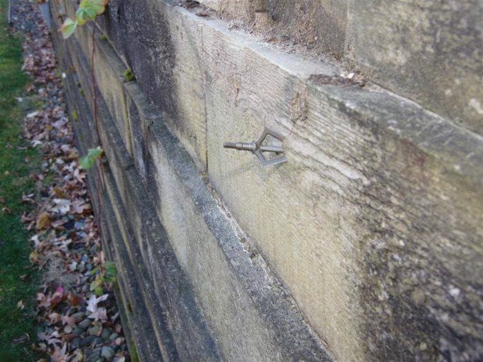 Retaining wall shot
