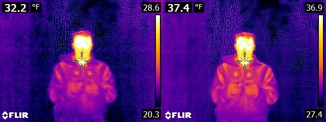 FLIR E6 vs. E8 Reuben in mirror