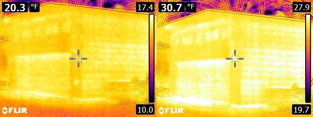 FLIR E6 vs. E8 House exterior 1