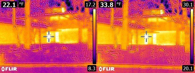 FLIR E6 vs. E8 house exterior 2