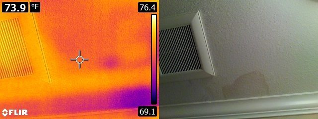 Infrared ceiling stain