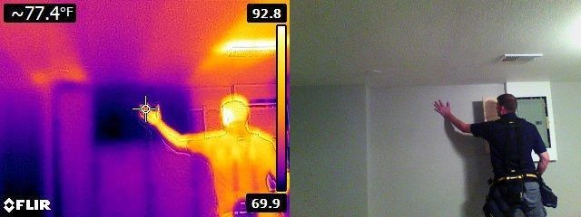 Infrared covered basement window
