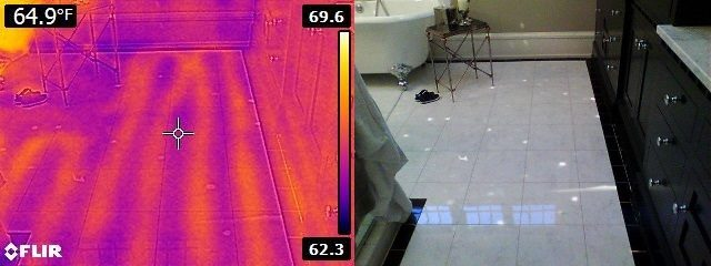 Infrared image of heated floor 2