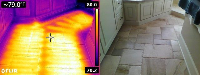 Infrared image of heated floor 3