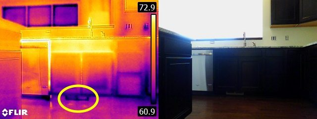 Infrared no heat at register