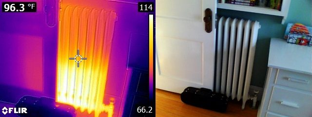 Infrared radiator heating improperly