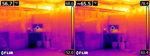 FLIR E6 vs. E8 Reuben's basement