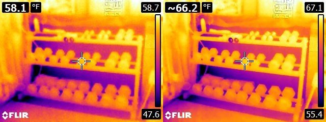 FLIR E6 vs. E8 weight set