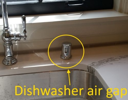 Dishwasher air gaps