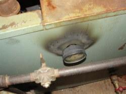 Scorching at boiler