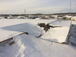 Collapsed Kmart Roof
