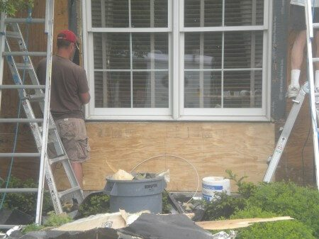 Stucco Repairs below window
