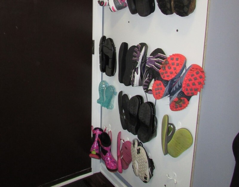 Shoe Storage Solution A Wall Of Shoes