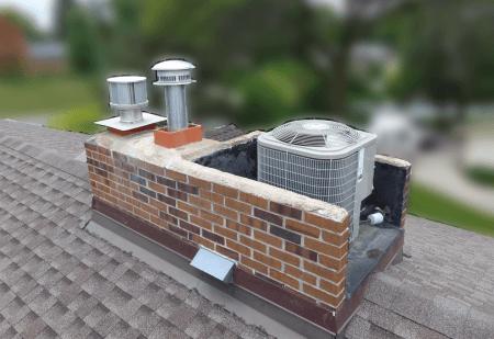 Chimney _ flat roof combo