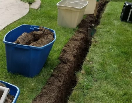 Trench digging without nasty lawn scars