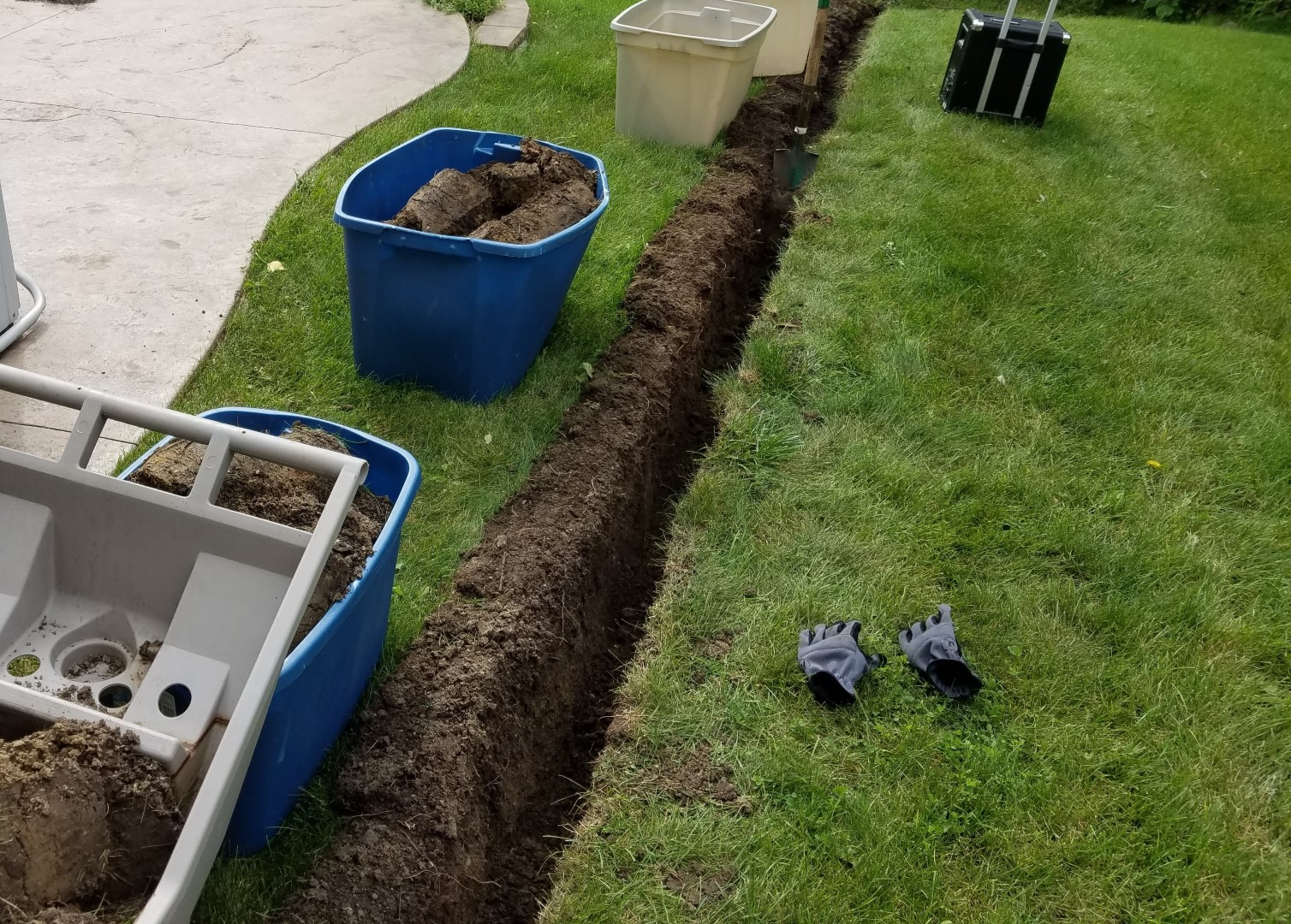 Trench Digging Without Nasty Lawn Scars Know More About Diagram Of A Plant Cell Front Yard Landscaping Ideas In Progress