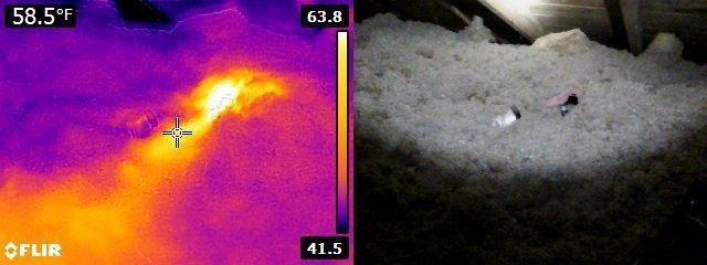Infrared missing bath fan duct