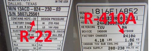 R-22 vs R-410A