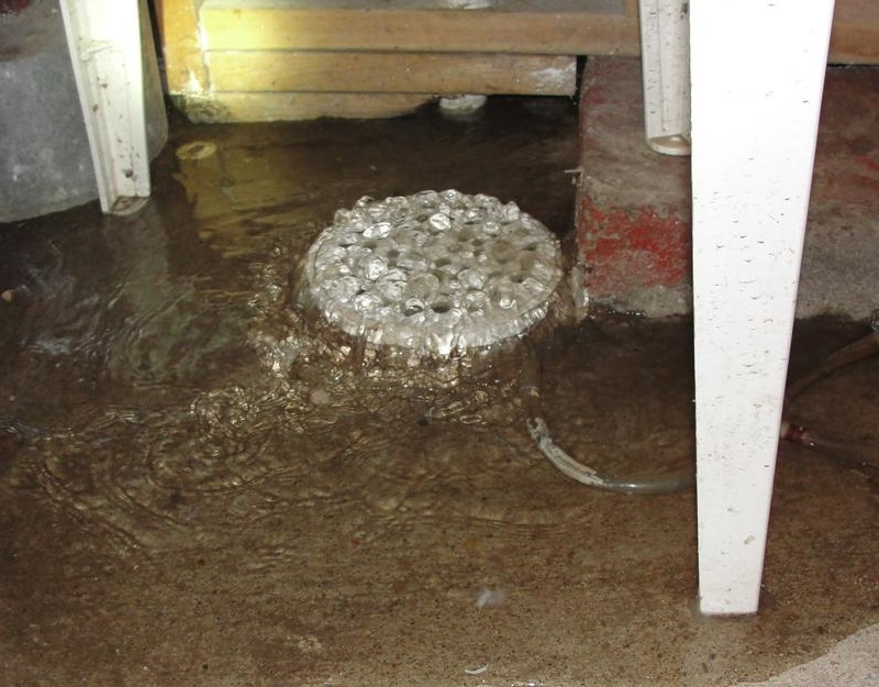 Why does my floor drain back up? - Structure Tech Home Inspections
