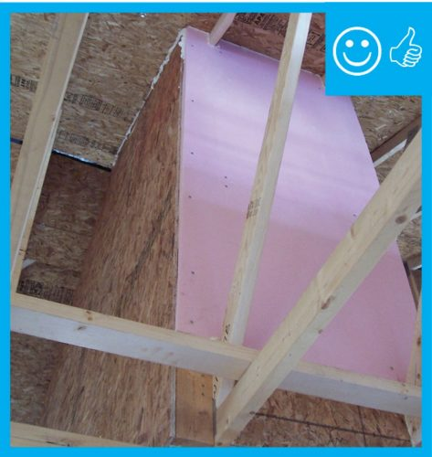 Proper skylight shaft insulation