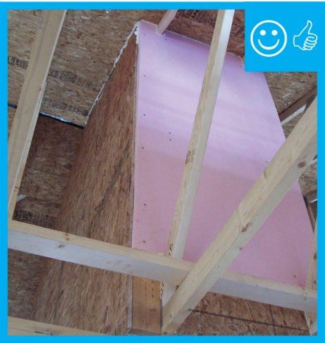 Proper skylight shaft insulation