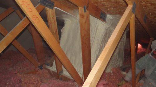 Spray foam at skylight shaft 2
