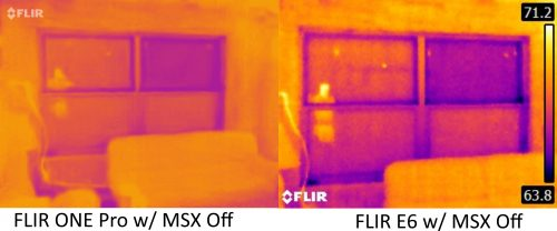 FLIR ONE Pro vs E6 with MSX off 5