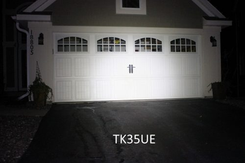 TK35UE against garage