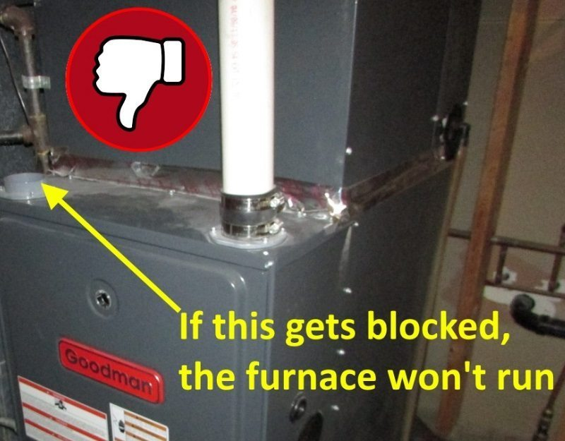 Can You Install A High Efficiency Furnace With Only One Pipe Structure Tech Home Inspections