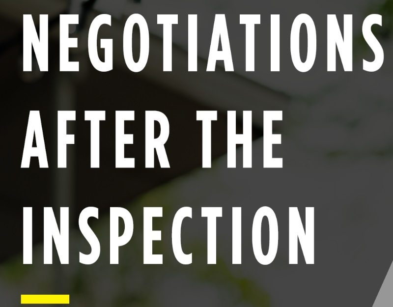 negotiations after the inspection structure tech home