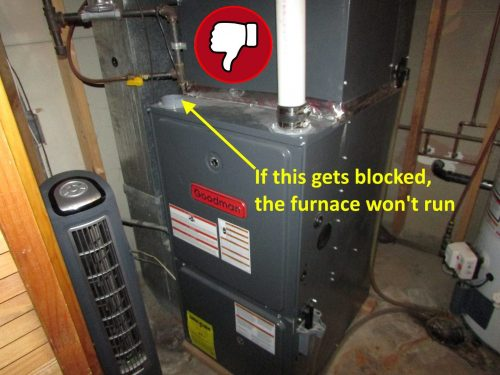 furnace with one pipe improperly installed