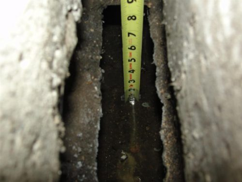 water in sub-slab duct