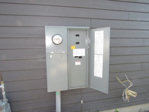 Main panel at exterior