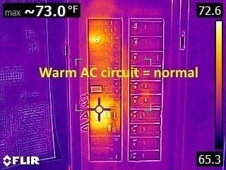 Warm AC circuit normal