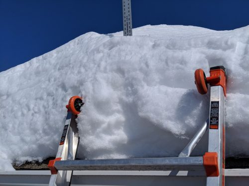 Roof snow depth