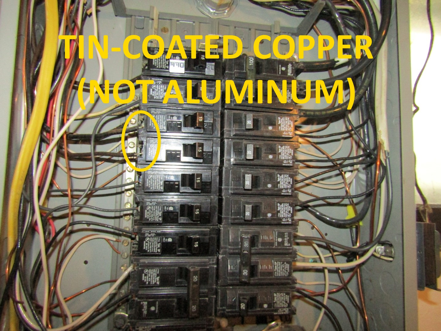 Fabulous Hazards With Aluminum Wiring Structure Tech Home Inspections Wiring Digital Resources Funiwoestevosnl