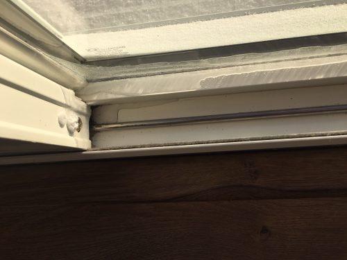 frost at sliding door
