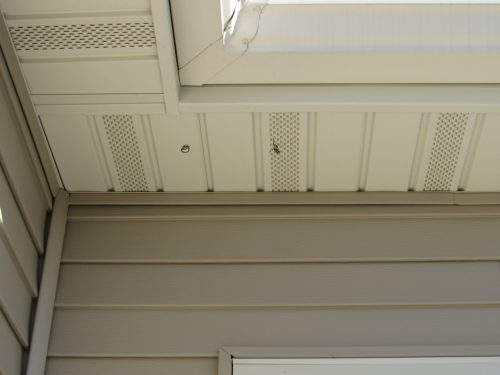 markings at soffit