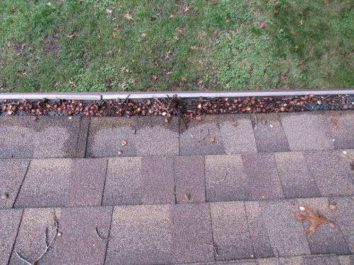 Clogged gutter cover
