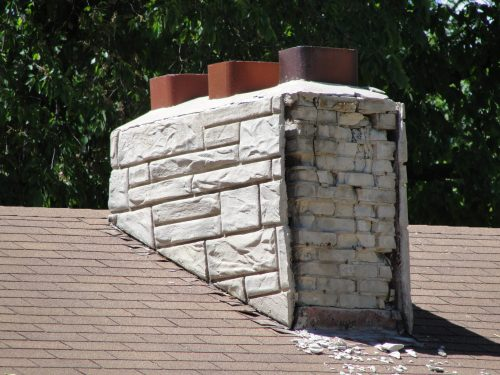 Chimney facade falling off